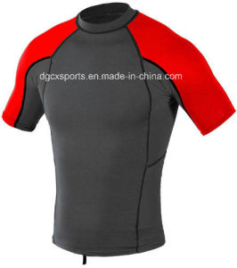 UV Protector Lycra Rash Guard with Short Sleeve pictures & photos