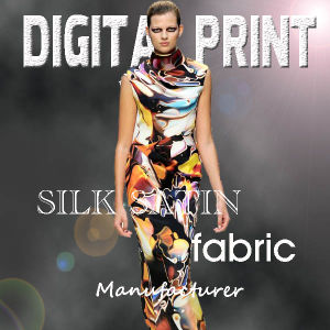 2017 100% Hot Digital Print Satin Fabric for Dress pictures & photos
