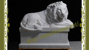 Sleep Hand Carved Marble Lions pictures & photos
