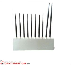 10 Antenna 10 Band 3G 4G GPS WiFi Lojack UHF VHF All Signal Jammer pictures & photos