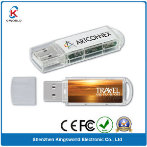 Plastic 8GB USB Flash Drive with Doming Logo (KW-0366) pictures & photos