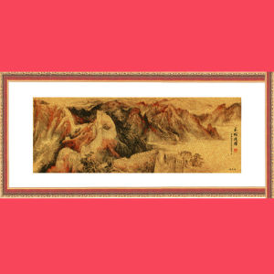 24k Genuine Gold Foil Painting/Gold Leaf Craft - The Great Wall