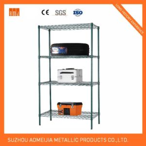 Amj481872b6w 6tier Black Wire Shelving with 4′′ Wheels pictures & photos