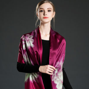 Double-Sided Printing Silk Scarf Shawl for Women pictures & photos