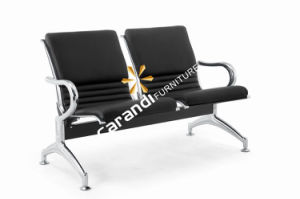 Black Color PVC Cushion Airport Chair (Rd 820AL)