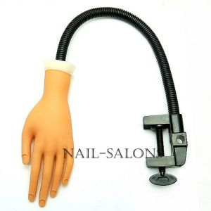 New Practice Plastic Model Hand Nail Art Trainer Hand Acrylic Gel False Tip Display with Shelf