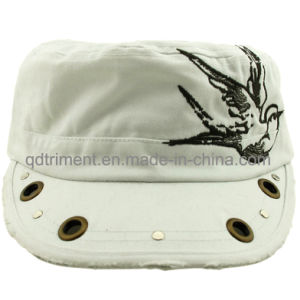 Grinding Washed Grommet Rivet Decoration Embroidery Leisure Military Cap (CSCMCM9447) pictures & photos