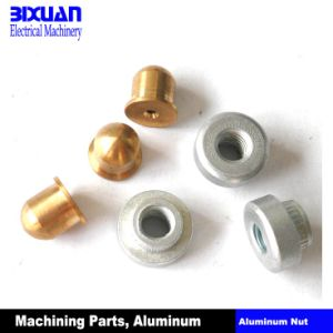 Machining Part Aluminum Nut Brass Nut Turning Parts pictures & photos