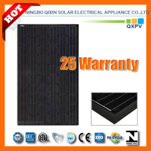 245W 156*156 Black Mono-Crystalline Solar Panel pictures & photos