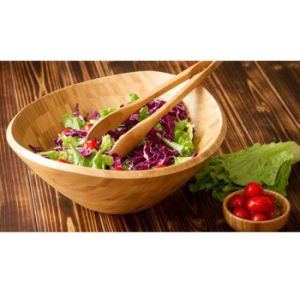 Customize Bamboo Salad Mixing Bowl for Daily Use pictures & photos