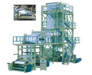 Three Layer Co-Extruding Traction Rotation Blown Film Machine pictures & photos
