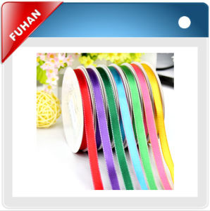 3mm Satin Ribbon Silk Screen Printing pictures & photos