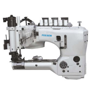High-Speed Feed-off-The-Arm Double Chainstitch Lap Seaming Machine pictures & photos