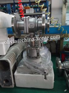 Electric 2PCS Flange Ball Valve of High Temperature pictures & photos