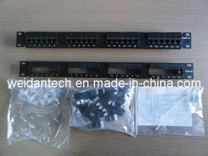 "19"" 24 Port Keystone UTP Cat5e Patch Panel (WD6A-008) pictures & photos"