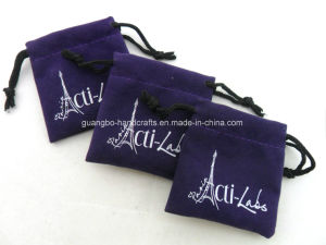 Custom High Quality Velvet Drawstring Printing Small Bag pictures & photos
