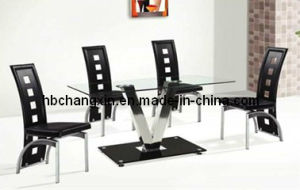 2016 Hot Sell New Modern Glass Dining Table Stainless Steel Frame Dining Table pictures & photos