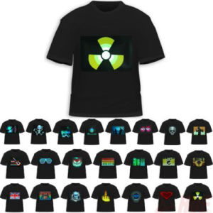 Sound Activated Electroluminescent T Shirts pictures & photos