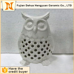 Factory Direct Sale Ceramic White Owl Candle Holder pictures & photos