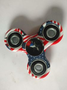 America Flag Fingertip Gyro Water Transfer Painting Fidget Hand Spinner pictures & photos