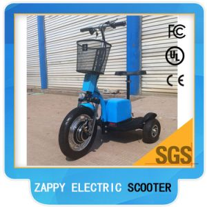 Moped Mobility 3wheel 800W Zappy Electric Scooter Big Tire pictures & photos