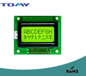 Standard LCD Module 8*1 with Yellow/Green LED Backlight Product pictures & photos