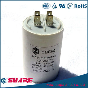 Electric Fan Capacitor 2.5UF 350V with Soldered Terminals Capacitor pictures & photos