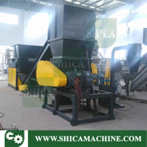 Shica Plastic Shredder with Crusher and Silo for Plastic Lumps pictures & photos