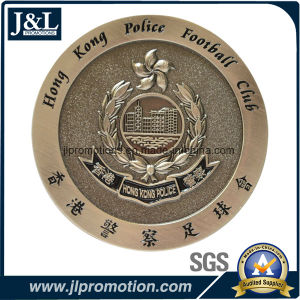 Die Casting Zinc Alloy Soft Enamel Metal Coin in Antique Silver Plating pictures & photos