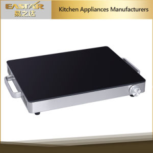 Glass Tempered Food Warming Plate Es-5005 250W Food Warming Tray pictures & photos