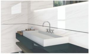 Elegant White/Grey/Yellow Marble Tile for Bathroom Surrounding/Floor/Wall pictures & photos