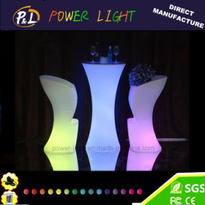 RGB Colorful Lighted Glowing Plastic LED Bar Stool pictures & photos