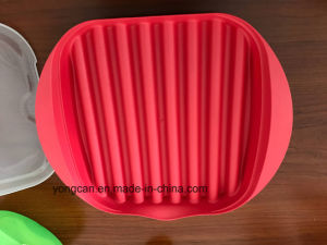 Microwave Bacon Plastic Silicone Cooker pictures & photos