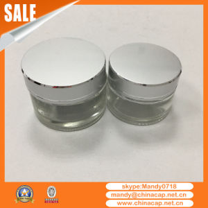 15g20g30g50g Cosmetic Aluminum Cream Jar with Silver Cap pictures & photos