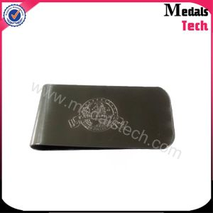 Custom Promotion Business GIF Metal Leather Money Clip pictures & photos
