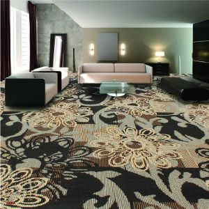N374-Rolled 1/8 Nylon-PA6 Cut &. Loop Woven Full-Width Repeat Office/Hotel/House Carpet pictures & photos