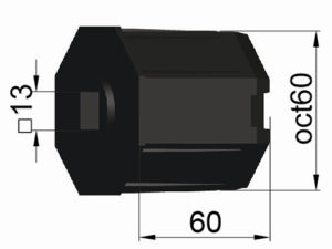 Roller Shutter Accessory, Plastic Cap Oct60 with Hole Sq. 13 pictures & photos