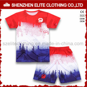 Barcelona Sublimated Soccer Uniforms for Kids pictures & photos