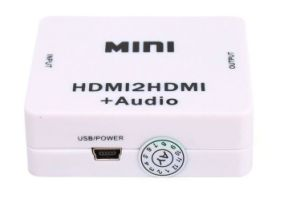 HDMI to HDMI+Audio Video Converter Decoder pictures & photos
