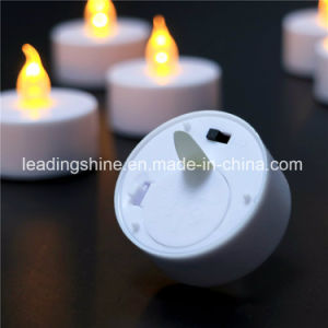 Soft Flame Battery Operated Flameless Yellow Tea Candle Light for Wedding Decoration pictures & photos