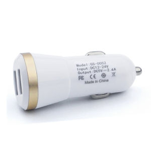 Wholesale 5V/1A  5V/2.1A Dual USB Car Charger Adapter for Consumer Electonics pictures & photos