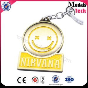 Nirvana Rock Smile Face Shape Metal Keychain (MTKY055) pictures & photos