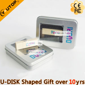 Rectangle Wood USB Drive with Gift Fullcolor Tin Box (YT-8101) pictures & photos