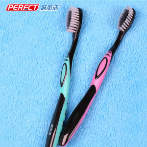 Charcoal Tapered Binchotan Bristle Adult Toothbrush pictures & photos