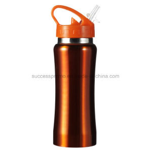 Stainless Steel Drinking Bottle with Matching Coloured Plastic Cap pictures & photos