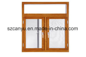 China Suppliers High Quality Cheap Wood Clad Aluminum Wooden Window Casement Swing Window pictures & photos