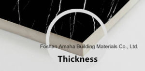 Foshan Tile Building Material Full Body Light Polished Glazed Porcelain Floor Tile Black (BMG18P) pictures & photos