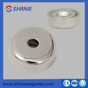 Neodymium Magnet in Steelpot with Countersunk Hole pictures & photos