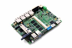Fanless Industrial Motherboard with 4 LAN, 6USB, Lvds, Hdim pictures & photos
