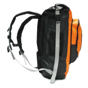 Outdoor 66L Orange Waterproof Diving Backpack with Front Pockets pictures & photos